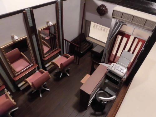 美容院ミニチュアハウス