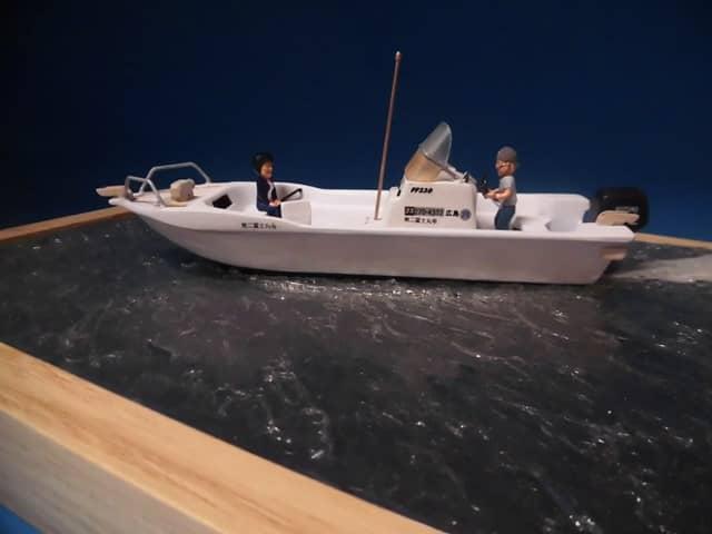 漁船のジオラマ